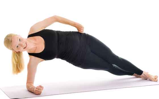 Side plank hip lift